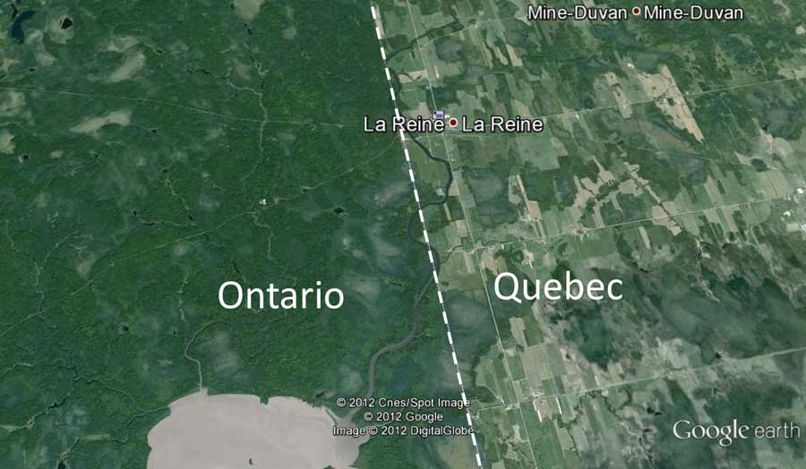 Development differences between Northern Ontario and Quebec
